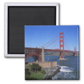Golden Gate Bridge, San Francisco, California, 8 2 Inch Square Magnet