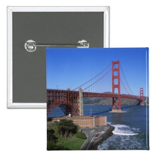 Golden Gate Bridge, San Francisco, California, 8 Pinback Buttons