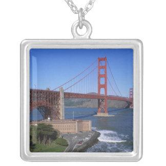 Golden Gate Bridge, San Francisco, California, 8 Square Pendant Necklace