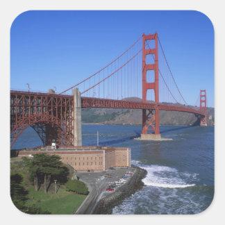 Golden Gate Bridge, San Francisco, California, 8 Square Sticker