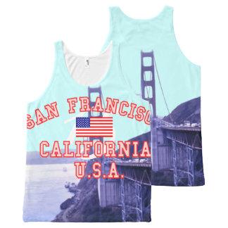 Golden Gate Bridge San Francisco California All-Over Print Tank Top