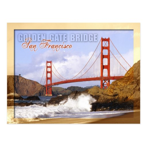 Golden Gate Bridge San Francisco California Sunset Picture: Golden Gate Bridge, San Francisco, California Postcard