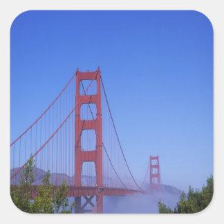 Golden Gate Bridge, San Francisco, California, Square Sticker
