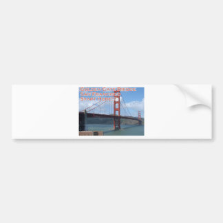 Golden Gate Bridge San Francisco California USA Bumper Sticker