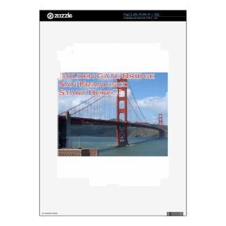 Golden Gate Bridge San Francisco California USA Decals For The iPad 2