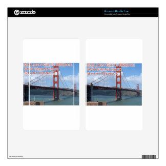 Golden Gate Bridge San Francisco California USA Kindle Fire Skin