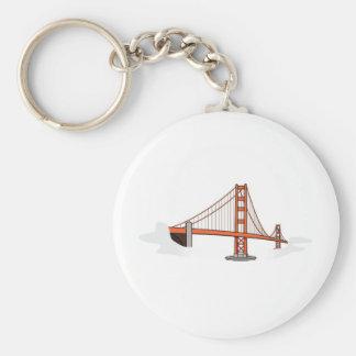 Golden Gate Bridge   San Francisco Destination Basic Round Button Keychain