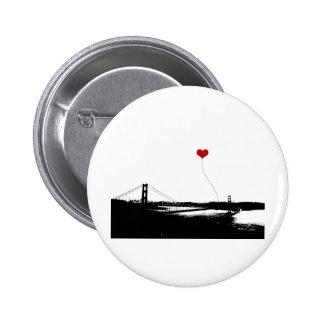 Golden Gate Bridge San Francisco Lover's Pinback Button