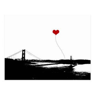 Golden Gate Bridge San Francisco Lover's Postcard