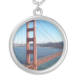 Golden Gate Bridge, San Francisco Round Pendant Necklace