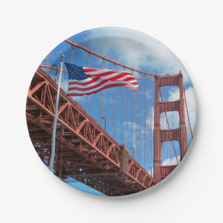 Golden Gate Bridge, San Francisco Paper Plate
