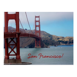 Golden Gate Bridge, San Francisco! Postcard