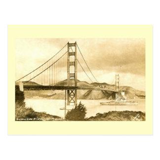 Golden Gate Bridge, San Francisco Vintage Post Card