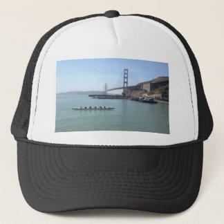 Golden Gate bridge shirts with outrigger canoe Trucker Hat