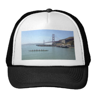 Golden Gate bridge shirts with outrigger canoe Trucker Hat