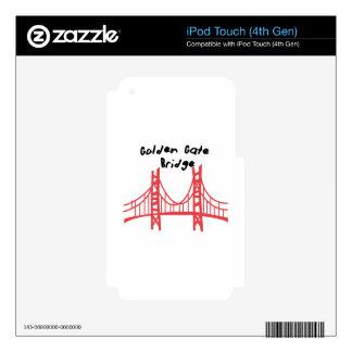 Golden Gate Bridge Skin For iPod Touch 4G
