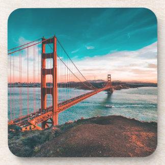Golden Gate Bridge Skyline Beverage Coaster