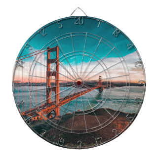Golden Gate Bridge Skyline Dart Board