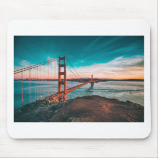 Golden Gate Bridge Skyline Mouse Pad