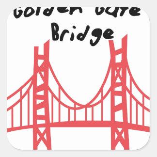 Golden Gate Bridge Square Sticker