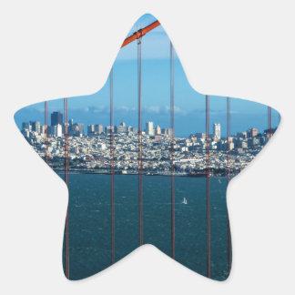 Golden Gate Bridge Star Sticker