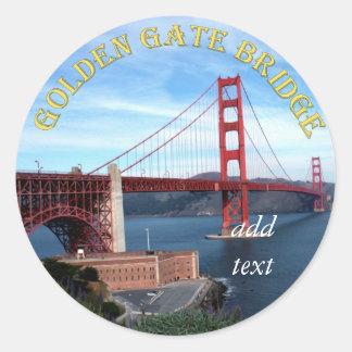 Golden Gate Bridge Round Stickers