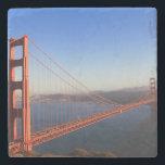 "Golden Gate Bridge Stone Coaster<br><div class=""desc"">This photo was taken at the Golden Gate Bridge in California.</div>"