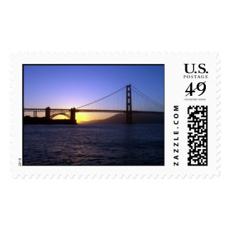 Golden Gate Bridge Sunset Stamp