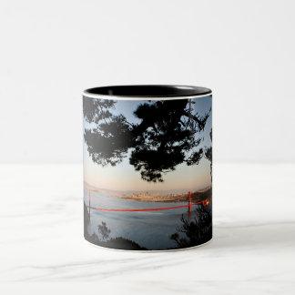 Golden Gate Bridge Sunset Two-Tone Coffee Mug