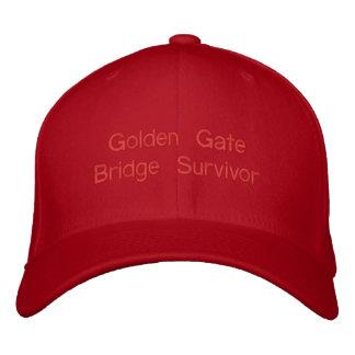 Golden Gate Bridge Survivor Walked Biked both ways Embroidered Baseball Hat