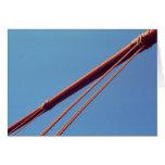 Golden Gate Bridge Suspension Cable Greeting Card