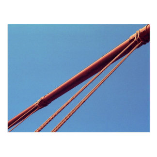 Golden Gate Bridge Suspension Cable Postcard