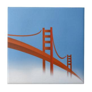 Golden Gate Bridge Small Square Tile
