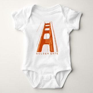 Golden Gate Bridge Tower - Orange Baby Bodysuit
