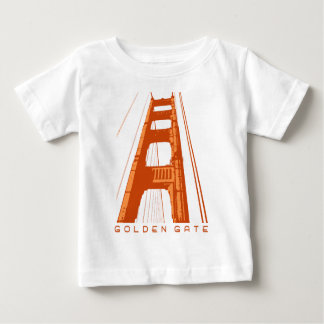 Golden Gate Bridge Tower - Orange Baby T-Shirt