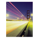 Golden Gate Bridge, traffic lights, San Postcard