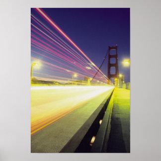 Golden Gate Bridge, traffic lights, San Print