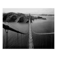 GOLDEN GATE BRIDGE view of MARIN HEADLANDS Poster