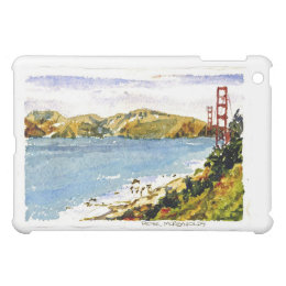 Golden Gate Bridge Watercolor Painting Cover For The iPad Mini