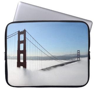 Golden gate bridge with fog, Golden Gate State Computer Sleeve