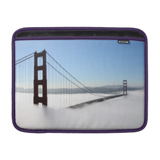 Golden gate bridge with fog, Golden Gate State Sleeve For MacBook Air
