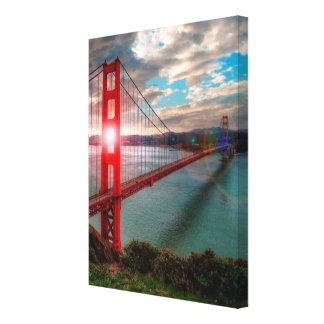 Golden Gate Bridge with Sun Shining through. Canvas Print