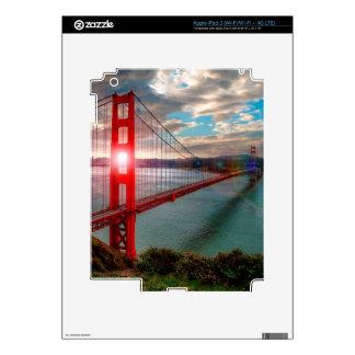 Golden Gate Bridge with Sun Shining through. iPad 3 Decal