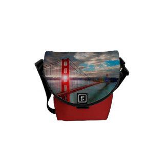 Golden Gate Bridge with Sun Shining through. Messenger Bag