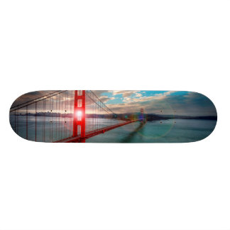 Golden Gate Bridge with Sun Shining through. Skateboard Deck