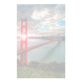 Golden Gate Bridge with Sun Shining through. Stationery