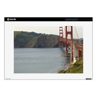 """Golden Gate bridge with view to Marin County Decals For 15"""" Laptops"""