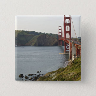 Golden Gate bridge with view to Marin County Pinback Button