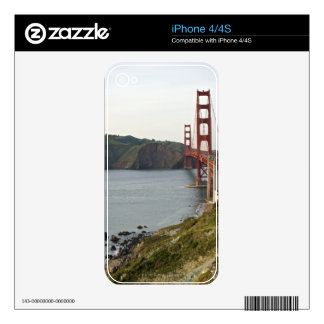 Golden Gate bridge with view to Marin County Skin For iPhone 4S