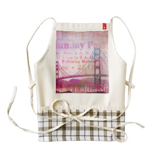 Golden Gate Bridge Zazzle HEART Apron